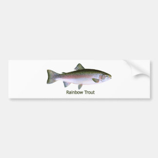 Logotyp för regnbågeforellfiske bildekal