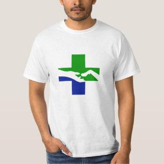 Logotyp för sjukhus för sjökusthusdjur endast tee shirt