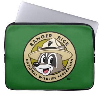 Logotyp för stack för skogsvaktare för laptop sleeve