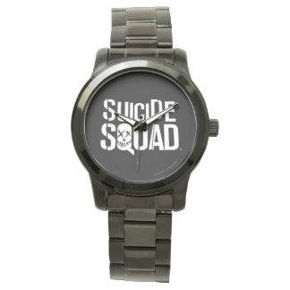 Logotyp för vit för självmordSquad | Armbandsur