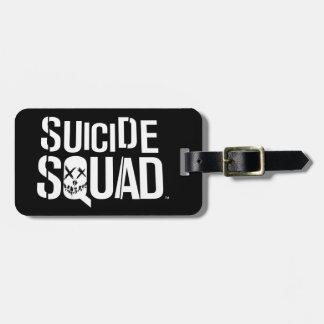 Logotyp för vit för självmordSquad | Bagagebricka