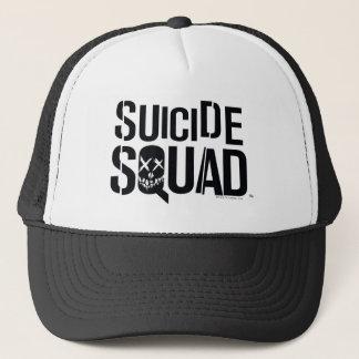 Logotyp för vit för självmordSquad | Truckerkeps