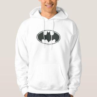 Logotyp för vit för svart för sprej för sweatshirt med luva