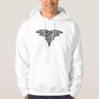Logotyp för vit för uppassaresymbol | Urban svart Tröja Med Luva