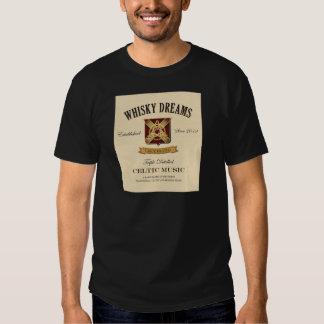 """Logotyp för Whiskydröm""""etikett"""" T-shirts"""