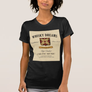 Logotyp för Whiskydröm etikett T-shirt