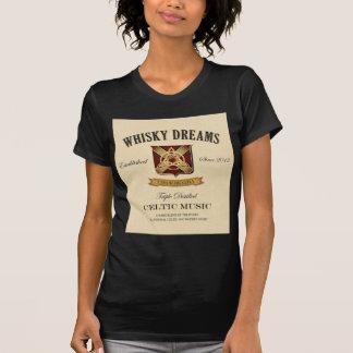 """Logotyp för Whiskydröm""""etikett"""" Tee Shirt"""