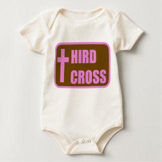 Logotyp Onesy för rosa- och bruntThirdkor Body För Baby