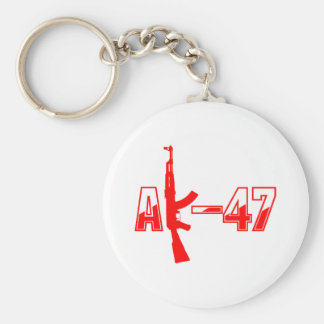 Logotyp Red.png för AK-47 AKM anfallgevär Rund Nyckelring