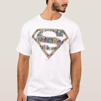 Logotyp Supergirl för komisk remsa Tshirts