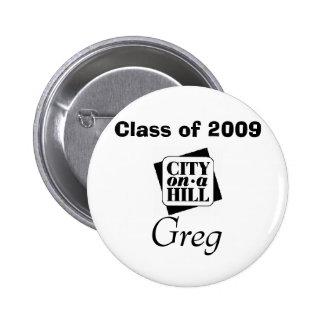 logotypen klassificerar av 2009, Greg Standard Knapp Rund 5.7 Cm