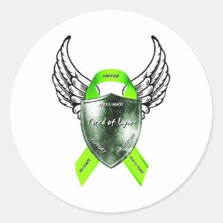 Logotypklistermärke Runt Klistermärke