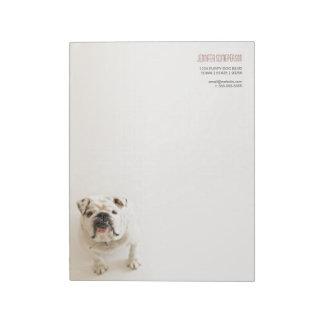 Lojal vitbulldoggpersonlig memo notepads