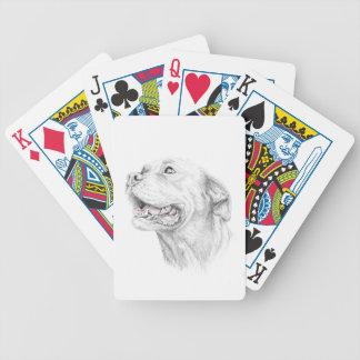 Lojalitet en amerikanStaffordshire Terrier Spelkort