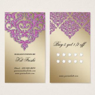 Lojalitet för gnistra för bröllophändelsePlanner Visitkort