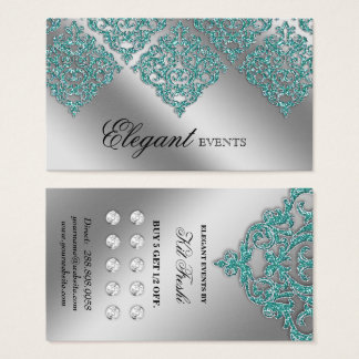 Lojalitet för kricka för silver för visitkort