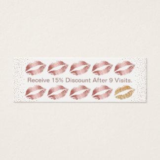 Lojalitet för läppar för salong för skönhet för litet visitkort