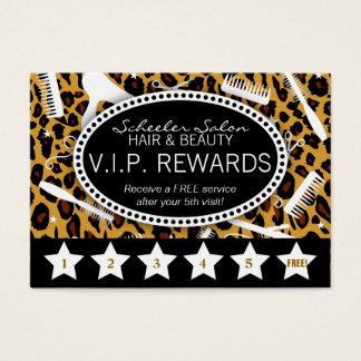 Lojalitet för Leopardtrycksalong Visitkort