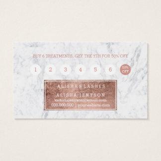 Lojalitet för marmor för typografi för snärtfaux visitkort