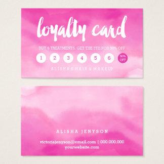 lojalitet för ombre för modern typografivattenfärg visitkort