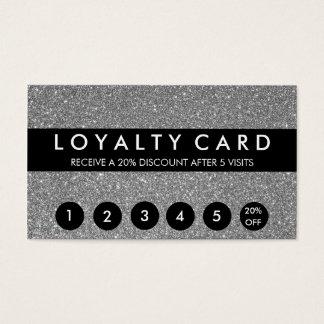 Lojalitet för silverglitterkund visitkort