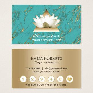 Lojalitet för turkos för guld- lotusblomma för visitkort
