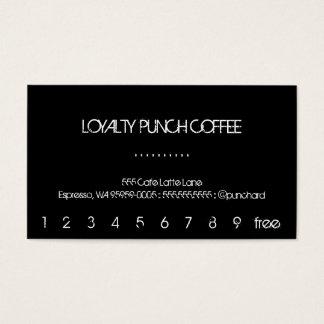 LojalitetkaffeStansmaskin-Kort Visitkort