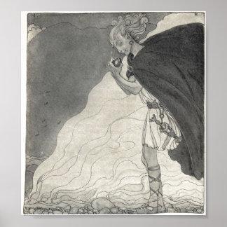 Lokien finner Gullveigs hjärta - John Bauer Poster