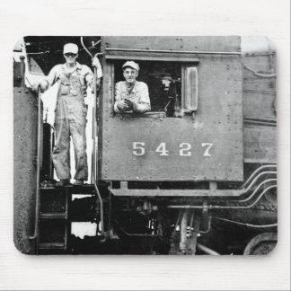 Lokomotiv för ånga för vintagejärnvägmotor 5427 musmatta