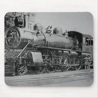 Lokomotiv för järnväg för vintageångamotor musmatta