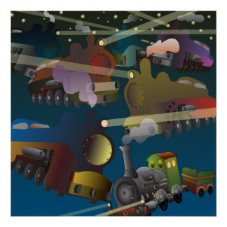 Lokomotiv i Rymden Poster