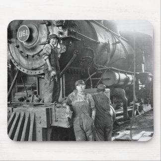 Lokomotivet för Roundhousegal.-vintage Musmatta