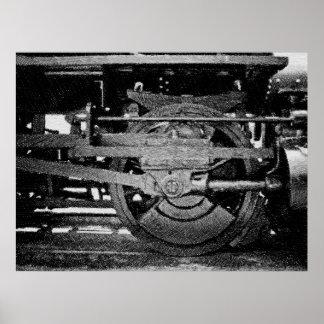 Lokomotivet rullar poster