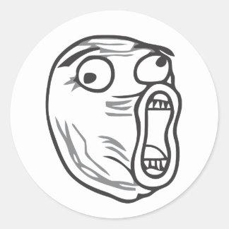 LOL-ansikte Rund Klistermärke