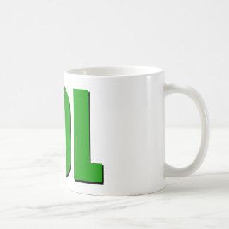 LOL-grönt Kaffemugg