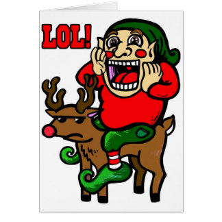 LOL-julälva Hälsningskort