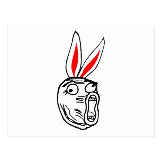 LOL - Meme för påskhareupplagainternet Vykort