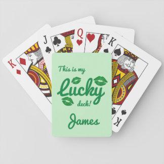 Lol roliga lyckliga gröna irländska kyssSts Spel Kort