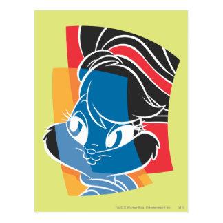 Lola kanin uttrycksfulla 4 vykort