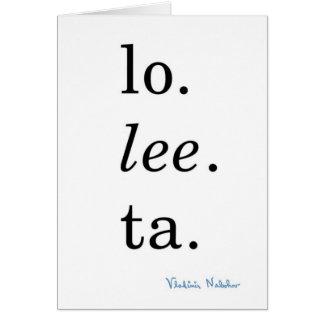 Lolita - Vladimir Nabokov Hälsningskort