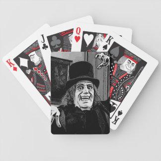Lon Chaney tragisk royaltycykel som leker kort Spelkort