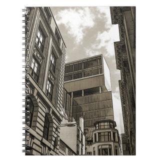 London arkitektur spiral anteckningsböcker