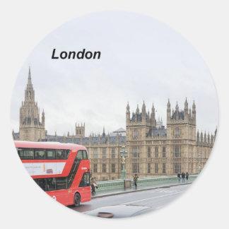 London buss & stora Ben (St.K) Runt Klistermärke
