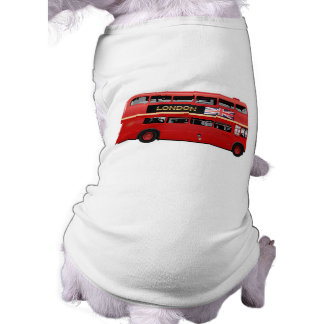 London den röda bussen långärmad hundtöja