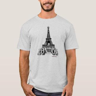 London England som presenterar det Eiffel torn Tshirts