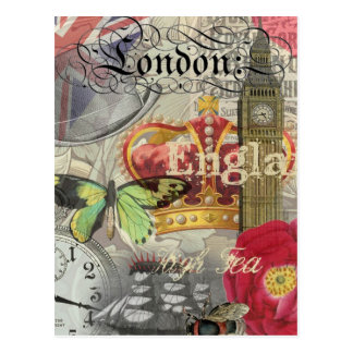 London England vintage resorCollage Vykort