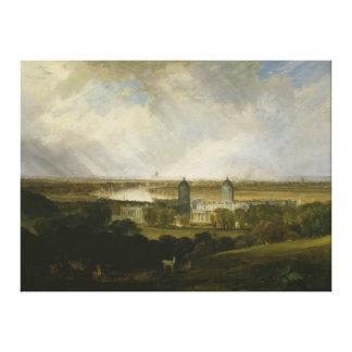 London från Greenwich parkerar vid turner 1809 för Canvastryck
