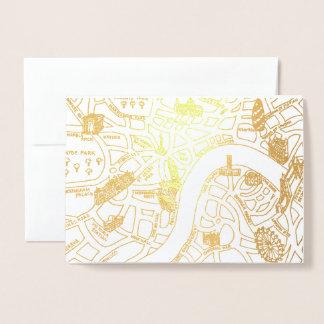 london guld omkullkastar kortet folierat kort