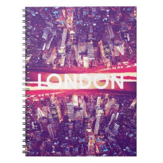 London i himmel antecknings bok