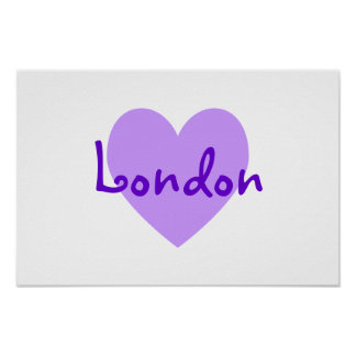 London i lilor poster
